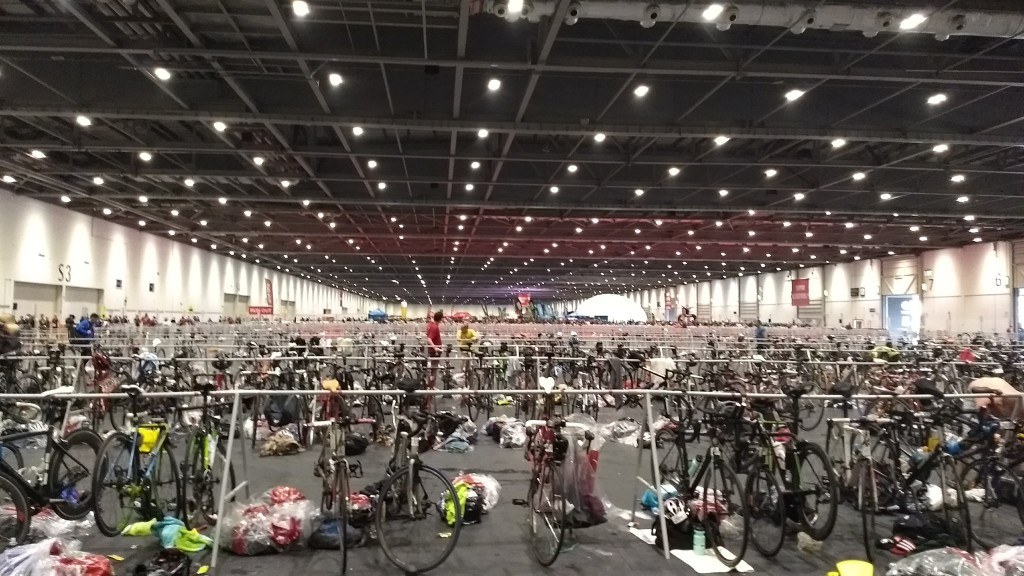 London Triathlon is one of the biggest events: allow time to find where to rack your bike, look out for T1 and T2 enters and exits.